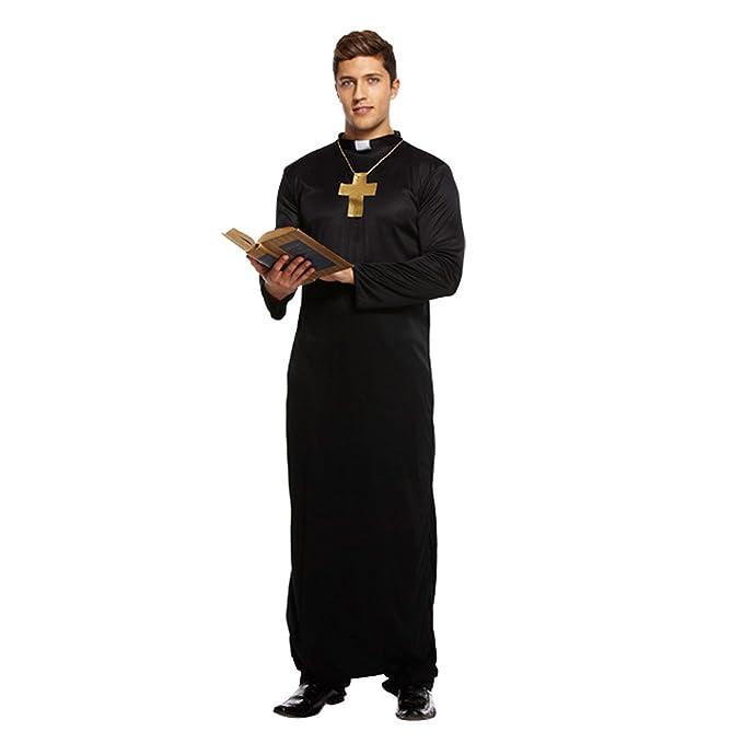 Costume Da Prete Per Adulti (Nero) - Taglia Unica  Amazon.it  Giochi ... 373c6d098c43