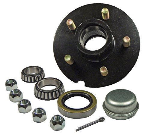 Trailer Hub Kit - For 1-3/8' Inner / 1-1/16' Outer Tapered Spindle - 5 Bolt on 5' Bolt Circle