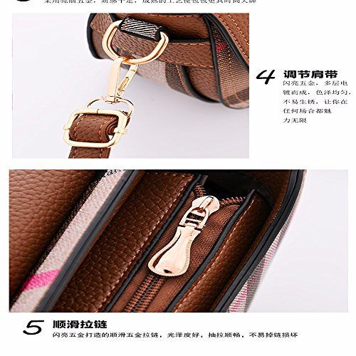 with PU Capacity Leather Vintage Soft Shoulder Clutch Casual Women's MSZYZ Shoulder Many Pockets Large Body Shoulder Cross Small Bags Wristlet qCHaZPBcRE
