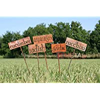 Classic Metal Garden Marker Set of 3 or More - 20 Inches Tall