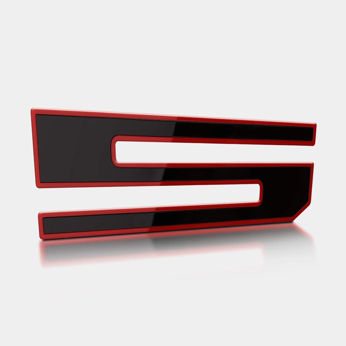 3D F150 Emblem Red Outline with Black Lawr Adhesive F150 Tailgate Insert Letters Tailgate Decal Letters for F150 2018 2019