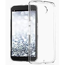Vena® Google Nexus 6 Case [RETAIN Hybrid] [+ShockProof CornerGuard] Ultra Slim Fit Bumper Cover Hard Transparent Back Case for Motorola Nexus 6 (Clear)