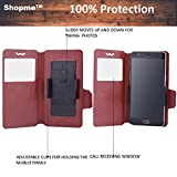 Shopme Premium PU Leather 100% Protection Flip cover (BROWN COLOR) for Micromax Canvas Juice 4G Q461 (Slider for Taking Snaps, Access to All Ports, PU Leather, 100% Protection from Spillages,Dirt )