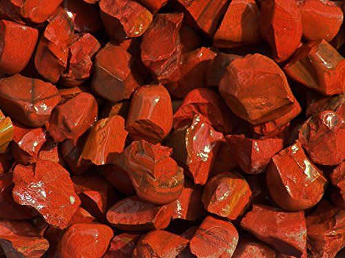 Fundamental Rockhound Products: Rough RED JASPER Bulk Rock for Tumbling, Metaphysical Use, Gemstones Healing Crystals Wholesale Lot from India (1/2 lb) -