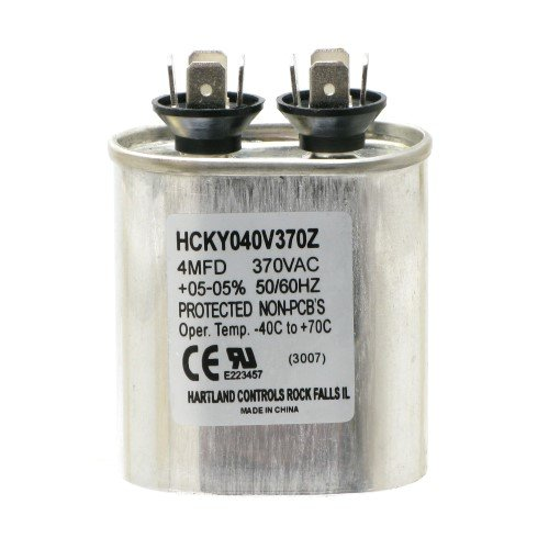 4mfd ±05% at 370 VAC Motor Run Capacitor, Hartland Controls, HCKY040V370Z