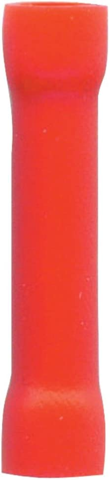 American Terminal E-BCR-100 22//18-Gauge Economy Vinyl Butt Connectors