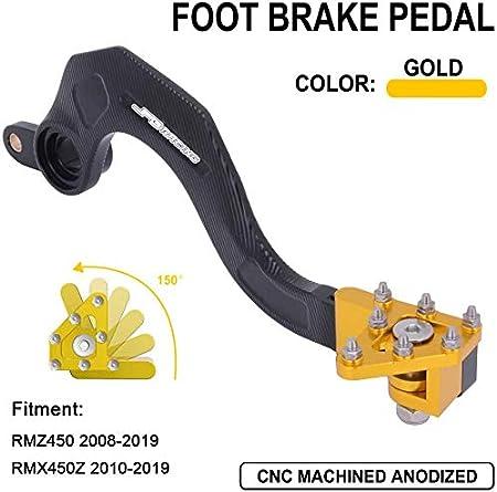 Orange Motorrad CNC Aluminiumhebel Suzuki RMZ450 RMZ 450 2008-2018 RMX450Z RMX 450Z Z 2010-2017 Fu/ßhebel Bremse hinten
