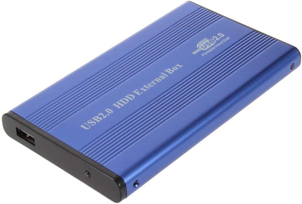 Mandalaa USB 2.0 2.5 Inch Notebook IDE Hard Driver Enclosure External Case Aluminum-Magnesium Alloy High Speed Hard Driver Enclosure Aluminium USB 2.0 2.5 Notebook IDE Hard Drive Enclosure
