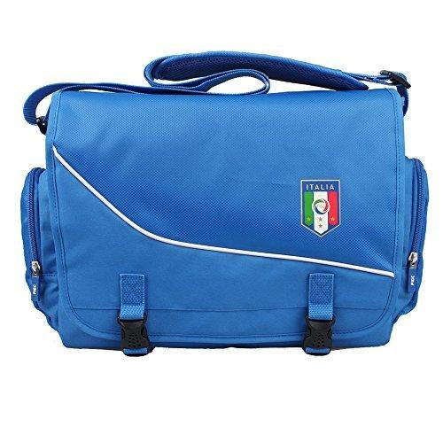 Federazione Italiana Giuoco Calcio Travelers Messenger Bag (Blue) by