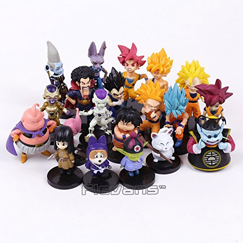 Dragon Ball Z PVC Figures Toys 20Pcs/Set Son Goku Vetega Majin Buu Freeza Beerus Whis Mark Karin Gotenks -Complete Series Merchandise - Legends Gifts Movies Comic Toys Collection