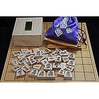 天童将棋駒 押駒(菱湖書)と折り盤セット 木製 国産