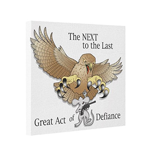 Dobend Abstract Art Canvas The Next to the Last Act of Defiance Framed Canvas