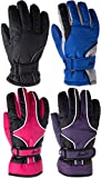Cloud 9- Kids Youth Teens Ski Gloves Cold Weather Waterproof Breathable 3M Thinsulate Lined Girls Boys Kids Winter Ski & Snowboarding Gloves (5-16 Years) (One Pair Only, Choose Your Size and Color)