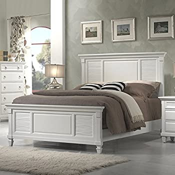 Amazon.com: Alpine Furniture Winchester Shutter Mansion Panel Bed ...