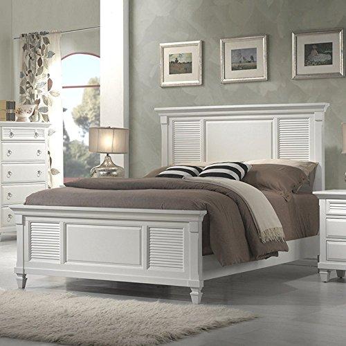 Alpine Furniture Winchester Shutter Panel Bed, Queen Size (Queen Shutter)