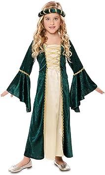 Disfraz de Dama Medieval Verde para niña: Amazon.es: Juguetes y juegos