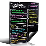 Weekly Dry Erase Meal Planner Board Calendar Fridge Magnet - 7 Day Magnetic Chalkboard Style Healthy Family Meals Menu & Grocery Coupon Organizer For Fridge - Buy Once & Use FOREVER! - Great Design