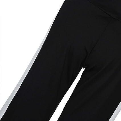 7621784a7 Pantalones Anchos Mujer Primavera Otoño Pantalones De Tiempo Libre Moda  Anchas Casual Pantalon Deporte Color Sólido Basic Ropa Flecos Patchwork  Cintura Alta ...