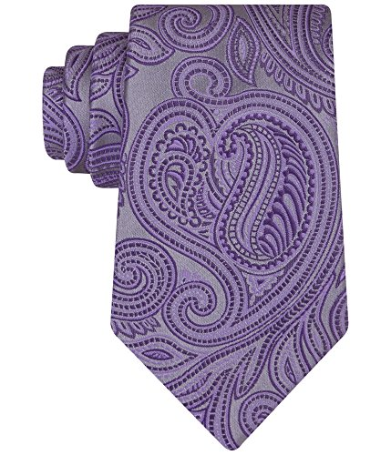 Geoffrey Beene Men's Sunreef Paisley Tie, Purple, One Size