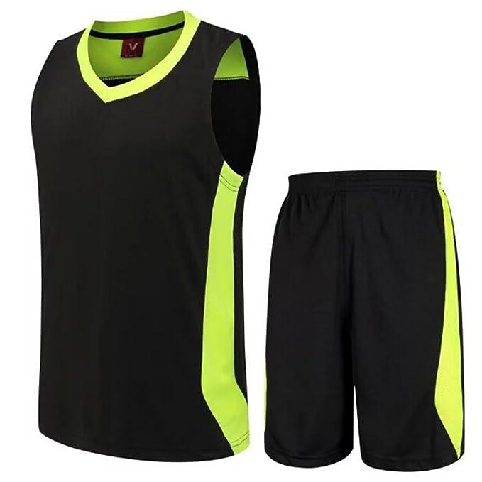 Megasave Ropa de Baloncesto con tu número Personalizado Camiseta por Adultos y niños de Color Negro