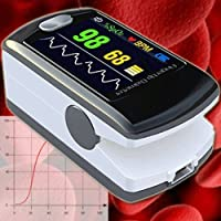Fingerpulsoxymeter Pulsmesser Pulsuhr Pulsmesser Herzschlag Blutwerte Sauerstoffsättigung SPO2 EKG OM3