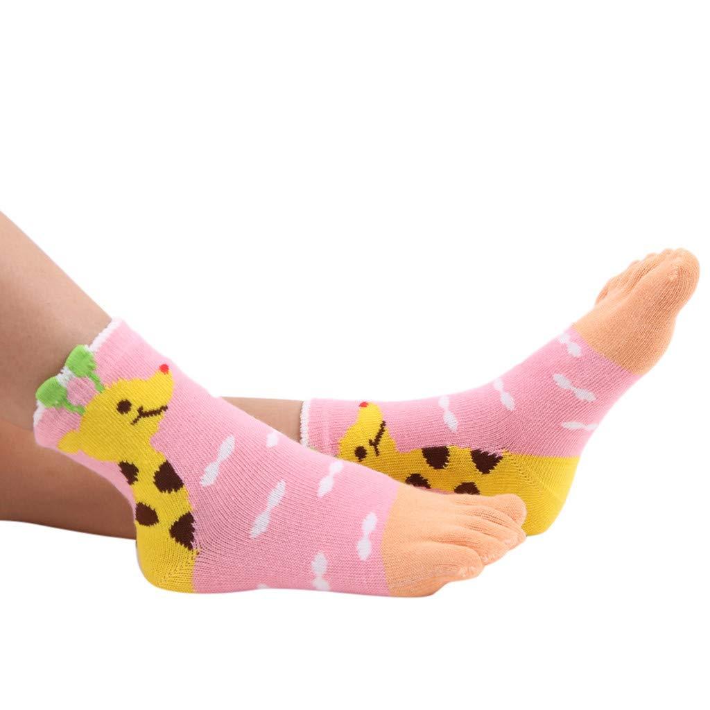 Serria Baby Boys Girls Socks Toddler Newborn Cartoon Giraffe Animal Print Five-Finger Socks Warm Comfortable Socks Kids Socks