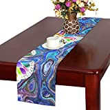 Butterfly Summer Nature Colorful Color Table Runner, Kitchen Dining Table Runner 16 X 72 Inch For Dinner Parties, Events, Decor