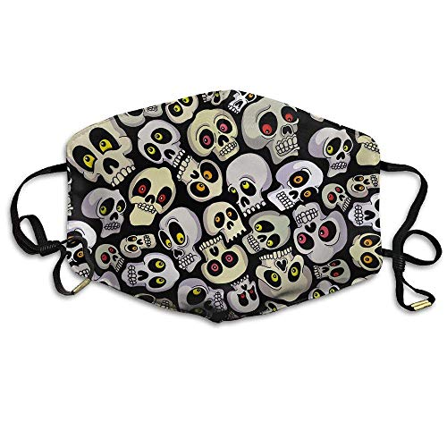 SOADV Mouth Masks Halloween Skulls Unisex Face Mouth Mask Ear-loop Mouth Muffle Riding Breathable Mask ()