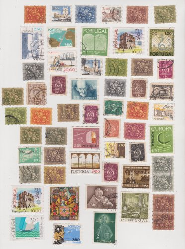 Cancelled Postage Stamps Of Portugal