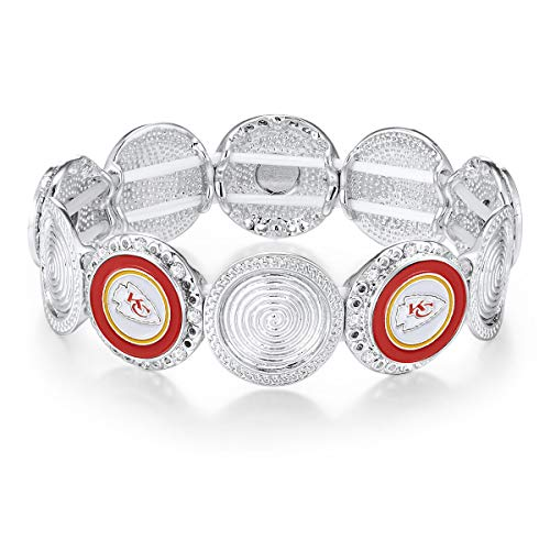 NFL Kansas City Chiefs Stretch Logo Bracelet