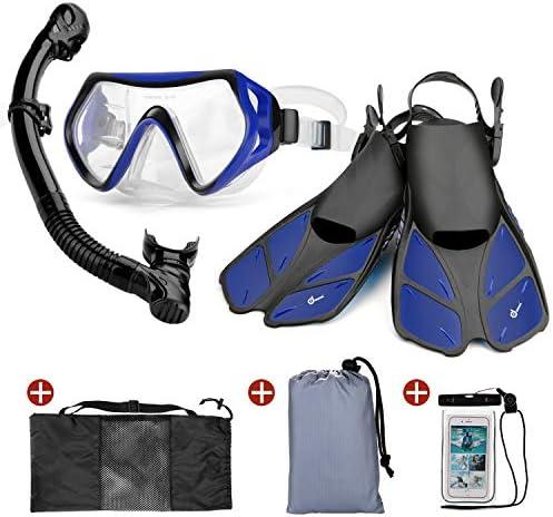 Odoland Snorkeling Adjustable Lightweight Waterproof