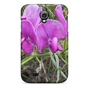 Top Quality Rugged Flor Lilas Case Cover For Galaxy S4