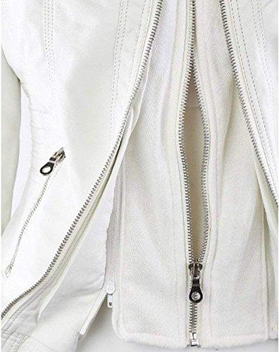 cuir en Veste Femme Manteau Faux Qingxian UA10pH
