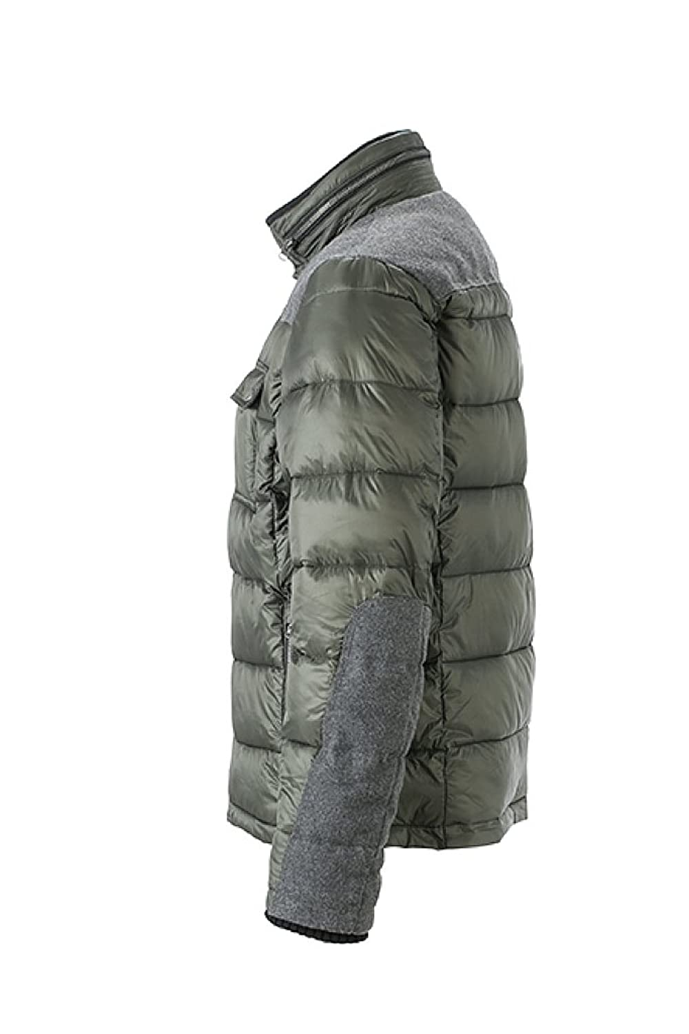JAMES & NICHOLSON Padded winter jacket with fashionable details