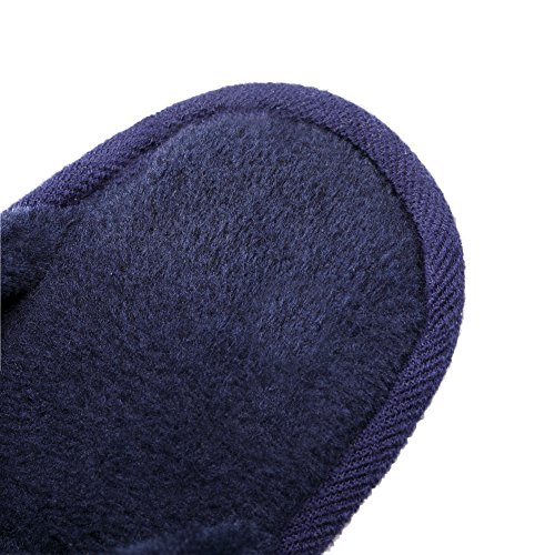 TRUEHAN Men House Indoor Slippers Winter Plush Soft Warm Lightweight Velvet Home Shoes (Tag Size 44 / UK9 10 D(M) US, Blue) by TRUEHAN (Image #5)