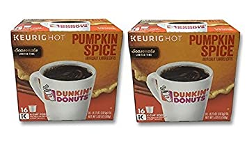 32 Count Dunkin Donuts Pumpkin Flavored Coffee KCups For Keurig K