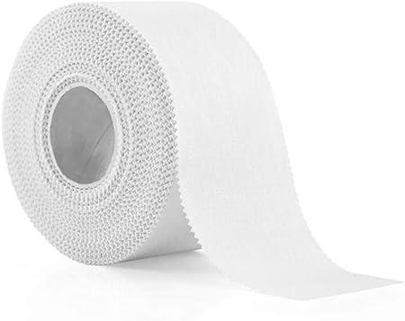 OWEM Cinta Deportiva Blanca Cinta Adhesiva médica de algodón fácil de rasgar Vendaje elástico para Entrenadores Soporte para Lesiones musculosas,3.8cm*10m: Amazon.es: Hogar
