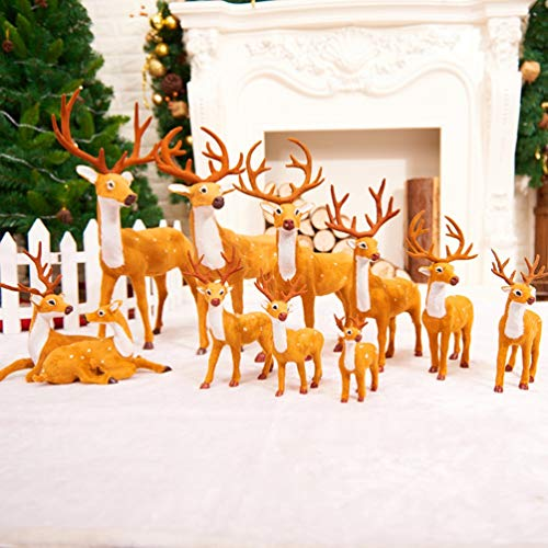 Xmas Elk Plush Plastic Mini Christmas Reindeer Deer Photography Prop Simulated Christmas Decorations Simulation ELK Deer]()
