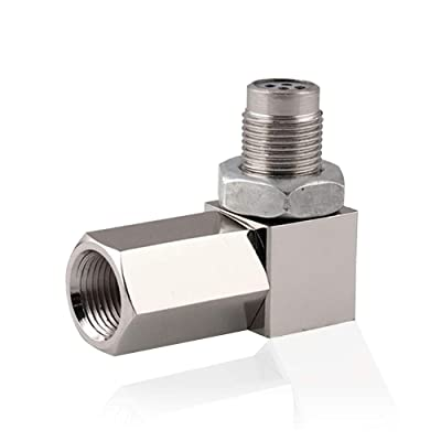 90 Degree Oxygen O2 Sensor Socket Real Mini Catalytic Converter 201 Stainless: Automotive