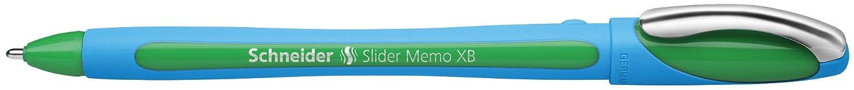 Rose Schneider Slider Memo XB Stylo bille avec capuchon, Pointe extra large Lot de 10 XB