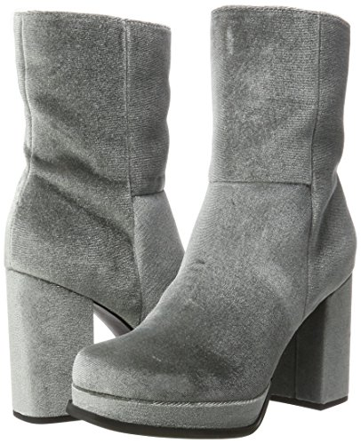 Grigio 17 Boots Stivali Plateau Bianco Grey Donna dark wx0fqFI7