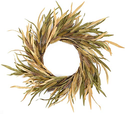 YNYLCHMX Artificial Fall Wreath 18″ Eva Grass Modern Farmhouse Wreath for Front Door Hanging Window Wall Decoration, Autumn Garland for Festival Party Celebration