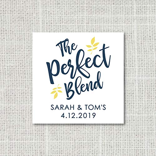 The perfect blend sticker, Coffee favor labels, Wedding favor stickers, Tea favors, Party Favor Stickers, wedding favor labels F16:3