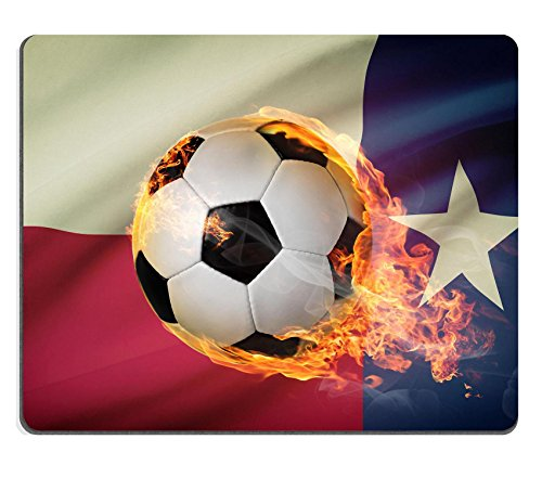 Qzone Mousepads Soccer ball with flag on background series Texas IMAGE 32440153 Customized Art Desktop Laptop Gaming mouse Pad