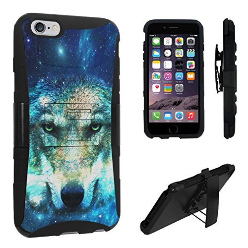 iPhone 6s Plus Case, DuroCase Hybrid Dual Layer Combat Armor Style Kickstand Case w/ Belt Clip Holster Combo for iPhone 6s Plus 5.5