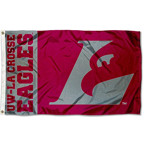 Wisconsin LaCrosse Eagles UWLAX University Large College Flag by College Flags and Banners Co.
