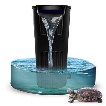 X&MX Tortuga Filtro De Cilindro-Bajo Nivel De Agua Cascada Pequeño Acuario Ultra-Silencioso