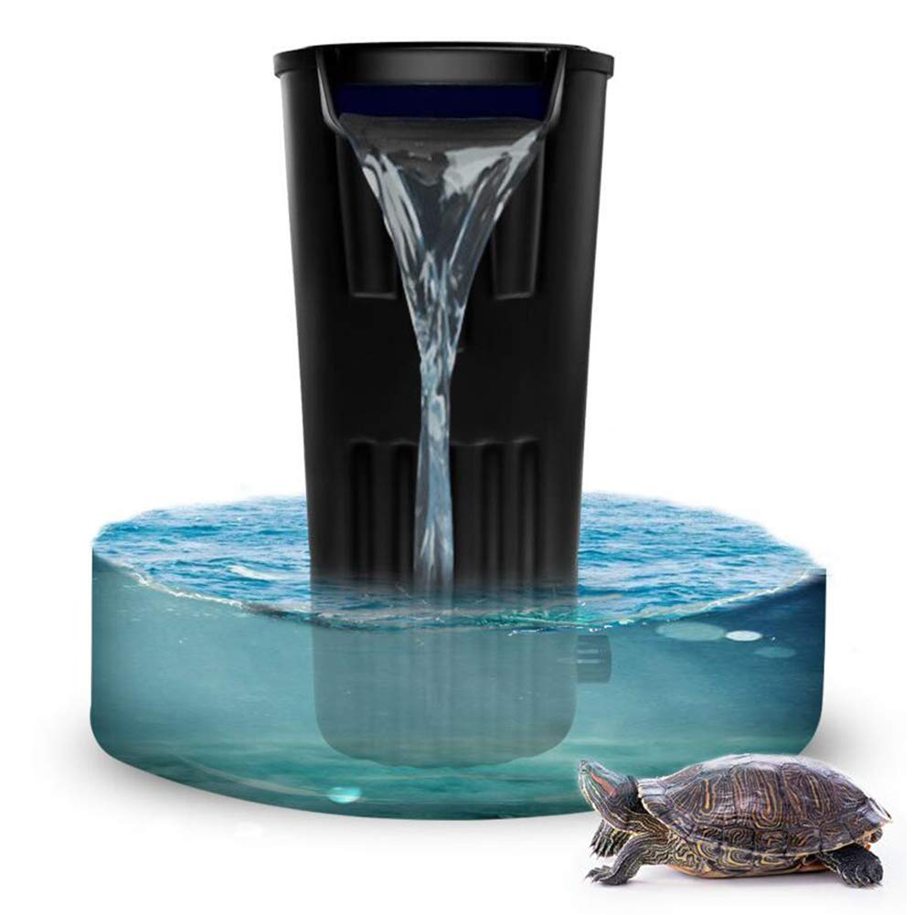 Turtle Cylinder Filter Low Water Level Waterfall Small Aquarium Ultra-Quiet Built-in Water Purifier [Energy Class A]