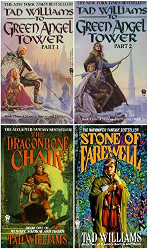 4 Book Set of Tad Williams' Memory, Sorrow and Thorn Trilogy Series (Set Includes: The Dragonbone Chair, The Stone of Farewell, To Green Angel Tower pt. 1, To Green Angel Tower pt. 2) (Tad Williams Memory Sorrow And Thorn Series)