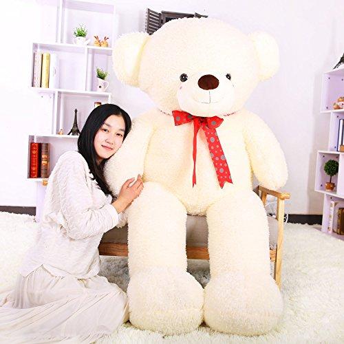 Stuffed Animal Teddy Bear Plush Soft Toy 160CM Huge Soft Toy White - 9